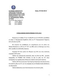 Έκθεση Πεπραγμένων 9ου ΠΤ της ΕΝΕ έτους 2012