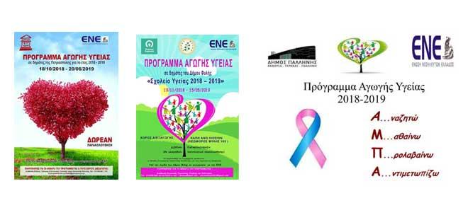 Απολογισμός Προγράμματος Πρόληψης Προαγωγής & Αγωγής Υγείας στους Δήμους Πετρούπολης – Φυλής – Παλλήνης 2018 – 2019