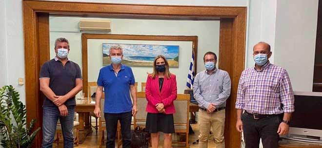 Συνάντηση μελών του Διοικητικού Συμβουλίου της Ε.Ν.Ε. με την Υφυπουργό Υγείας για θέματα Ψυχικής Υγείας κ. Ζωή Ράπτη